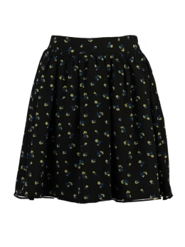 yezz flared mini rok met allover print py900812 zwart