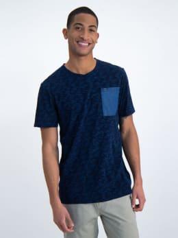 garcia t-shirt met borstzak o01008 blauw