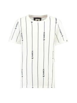 garcia t-shirt g93401 gestreept wit