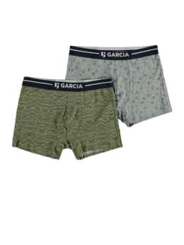 garcia 2 pack boxershorts met print pg010101 groen