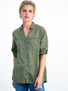 garcia blouse i90033 groen