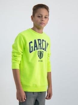 garcia sweater met opdruk gs030108 geel