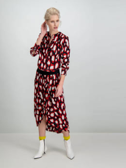 garcia jurk met allover print g90083 zwart