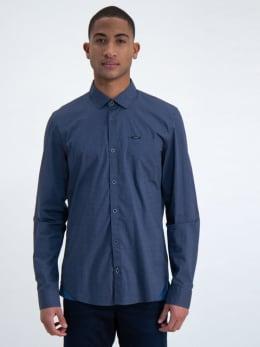 garcia overhemd met allover print m01036 grijs