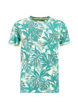 Garcia T-Shirt Tropisch D93602 Groen