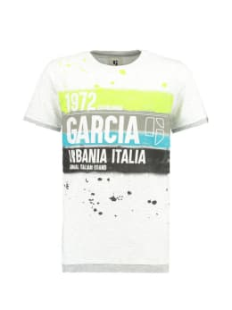 garcia t-shirt met print e93401 wit