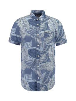 garcia overhemd korte mouwen e91026 blauw