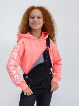 garcia hoodie met opdruk gs020100 roze