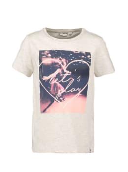 garcia t-shirt met opdruk n04402 grijs