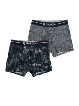 garcia 2 pack boxershorts met print pg010103 blauw