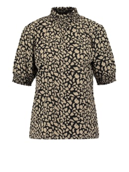 garcia t-shirt met col pg000303 bruin