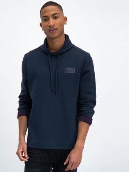 garcia sweater met opstaande kraag l91014 blauw
