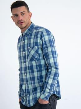 garcia geruit overhemd m01030 groen