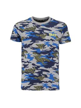 cars t-shirt met legerprint backson grijs