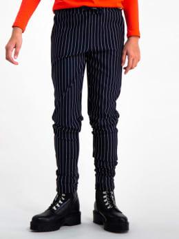 garcia gestreepte broek gs920730 blauw
