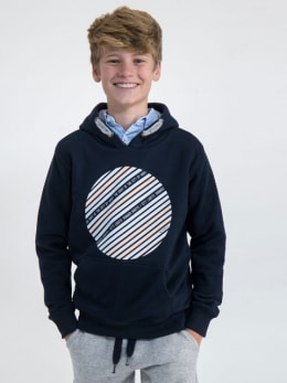 garcia hoodie met opdruk m03460 blauw