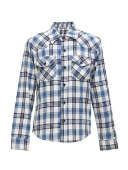 ltb geruit overhemd rohan blauw