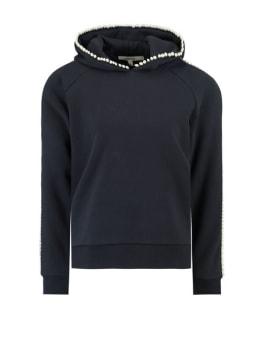 garcia hoodie met parels  j90260 blauw