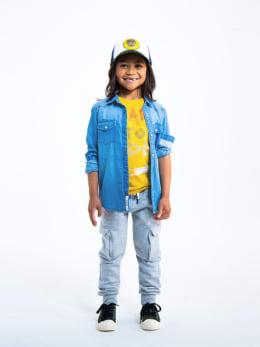 garcia denim overhemd o05630 blauw