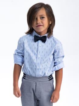 garcia overhemd met allover print k95430 blauw