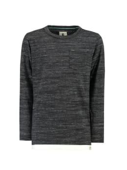 garcia shirt met lange mouw h93606 zwart gemêleerd