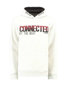 garcia hoodie met tekstprint i93460 wit