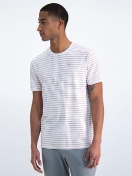 garcia gestreept t-shirt gs010102 roze