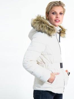 garcia puffer jas met riem gj900908 wit