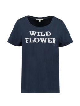 garcia t-shirt met tekst h90203 donkerblauw