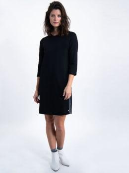 garcia jurk met glitterstrepen k90080 zwart