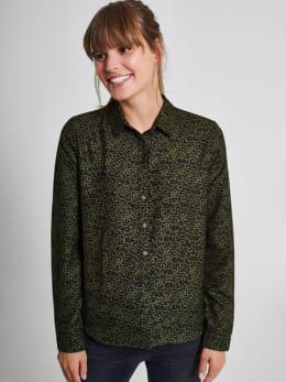 garcia blouse met allover print pg900908 groen