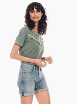 garcia t-shirt legergroen p00208