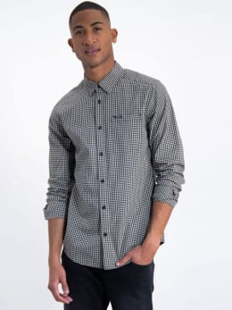 garcia overhemd met allover print j91236 zwart