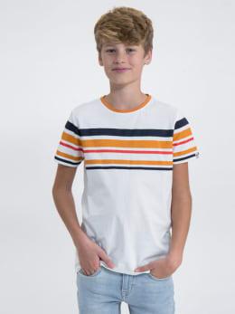 garcia t-shirt met opdruk m03405 wit