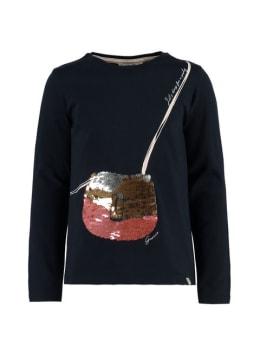 garcia t-shirt met lange mouwen k94400 donkerblauw