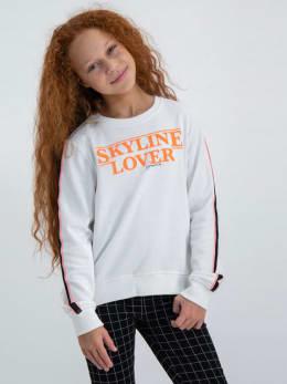 garcia sweater met opdruk m02460 wit