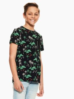 garcia t-shirt met allover print zwart q03402
