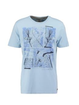 pilot t-shirt met opdruk lichtblauw pp010401