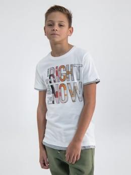 garcia t-shirt met opdruk n03604 wit