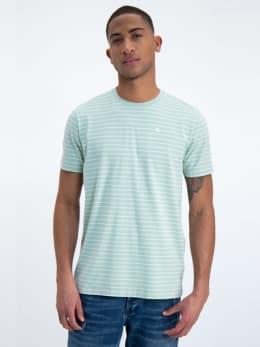 garcia gestreept t-shirt gs010102 groen