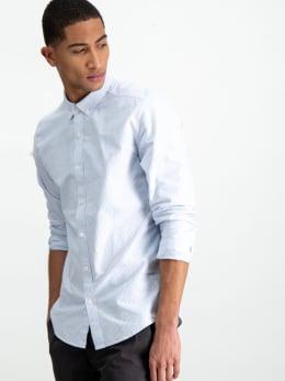 garcia gestreept overhemd z1078 blauw