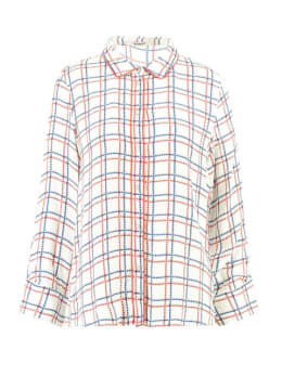 garcia geruite blouse h90232 wit