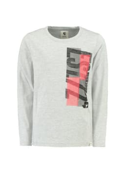 garcia shirt met lange mouw h93602 grijs