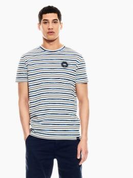garcia t-shirt gestreept wit q01008