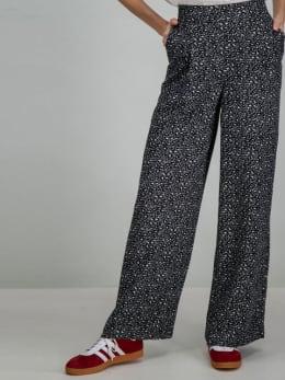 garcia wijde broek met panterprint i90116 grijs