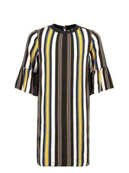 garcia gestreepte jurk g92483 zwart