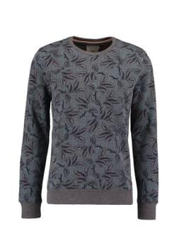 pilot sweater met allover print pp910903 grijs