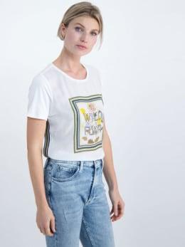 garcia t-shirt met opdruk m00005 wit