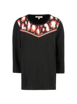 garcia t-shirt driekwart mouwen g90015 zwart