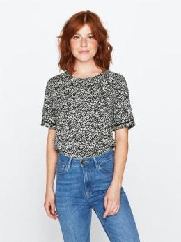 garcia blouse met allover print groen pg000406